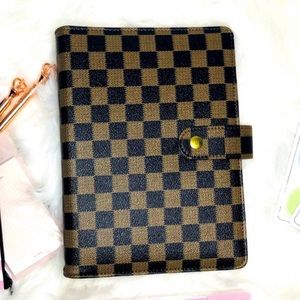 Planner cover A5 GM Brown Checkered